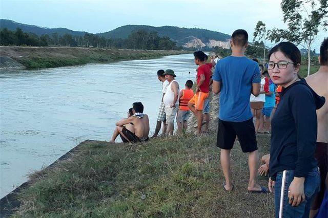 Hiện trường đoạn sông Đào nơi xảy ra vụ việc.