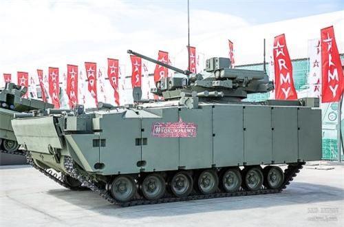 Xe chiến đấu bộ binh Kurganet-25. Loại này trang bị module chiến đấu tương tự K-17 Bumerang. Nguồn ảnh: SAID AMINOV
