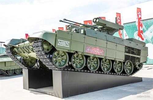 Xe chiến đấu hỗ trợ tăng BMPT-72 Teminator được thiết kế để chi viện cho xe tăng tác chiến nơi đô thị. Nguồn ảnh: SAID AMINOV