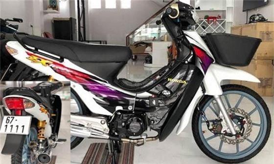 Chiếc Honda Wave ZX giá đắt đỏ vì sở hữu biển số khủng và độ đồ chơi đắt tiền.