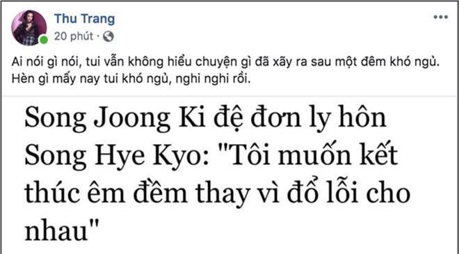 Biết tin Song Joong Ki và Song Hye Kyo ly hôn, sao Việt phản ứng: Người khóc ròng, kẻ bàng hoàng không tin vào tình yêu - Ảnh 2.