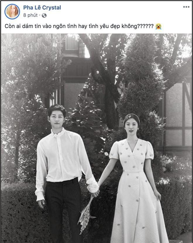 Biết tin Song Joong Ki và Song Hye Kyo ly hôn, sao Việt phản ứng: Người khóc ròng, kẻ bàng hoàng không tin vào tình yêu - Ảnh 4.