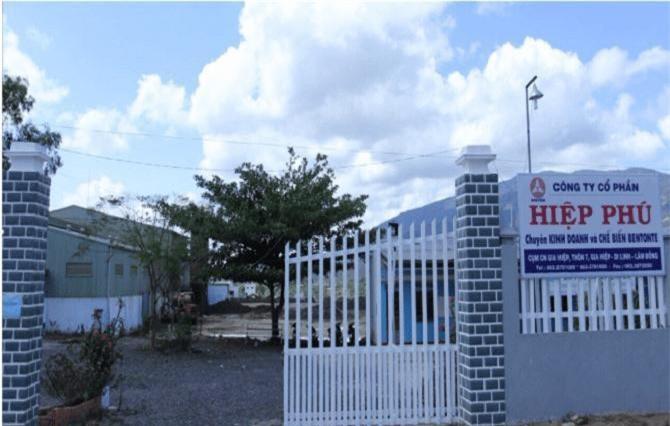Công ty cổ phần Hiệp Phú, một trong bốn doanh nghiệp bị phạt (Ảnh: TL)