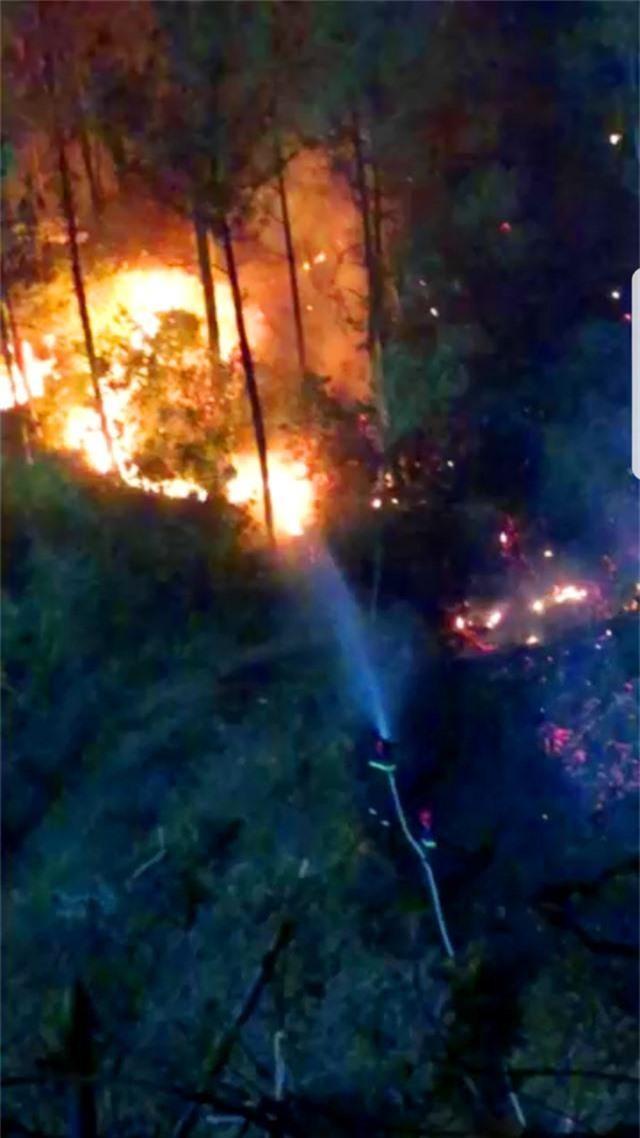 Hàng trăm người căng mình chữa cháy ở khu rừng cuồn cuộn lửa trong đêm - 8