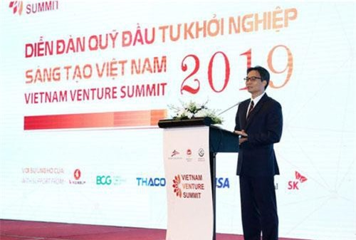 Phó thủ tướng Vũ Đức Đam kêu gọi doanh nghiệp lớn, các tập đoàn hỗ trợ các startup Việt Nam.