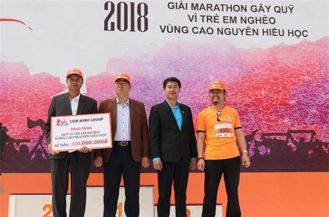 Thông qua Giải Marathon mở rộng, Lien Minh Group trao tặng Quỹ vì trẻ em nghèo vùng Cao nguyên hiếu học (Ảnh: TL)