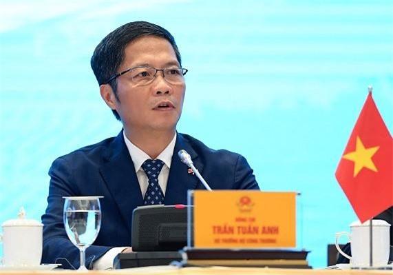 Bộ trưởng Bộ Công Thương Trần Tuấn Anh phát biểu tại cuộc họp báo chiều 30/6.