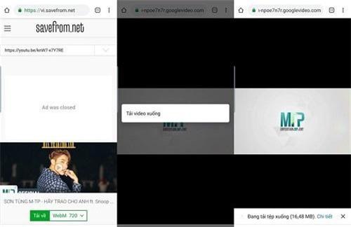 vào trang web www.savefrom.net và dán link video vừa copy
