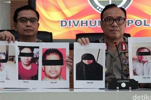 Cảnh sát Indonesia công bố hình ảnh Para Wijayanto. Ảnh: Detik