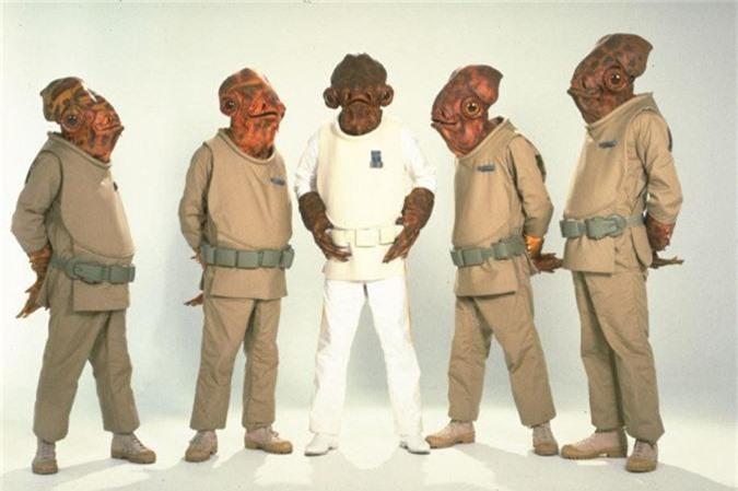 Người Mon Calamari trong phim Star Wars là những người cá ngoài hành tinh nổi tiếng nhất trong các cuốn tiểu thuyết.