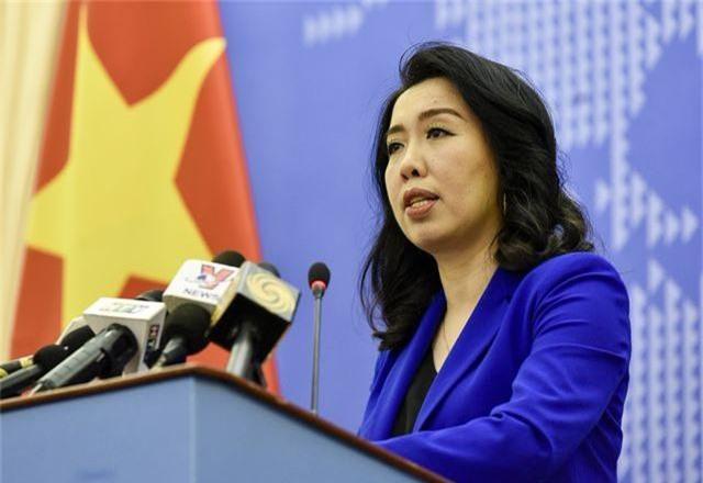 Người phát ngôn Bộ Ngoại giao Việt Nam Lê Thị Thu Hằng. Ảnh: Nhật Minh.