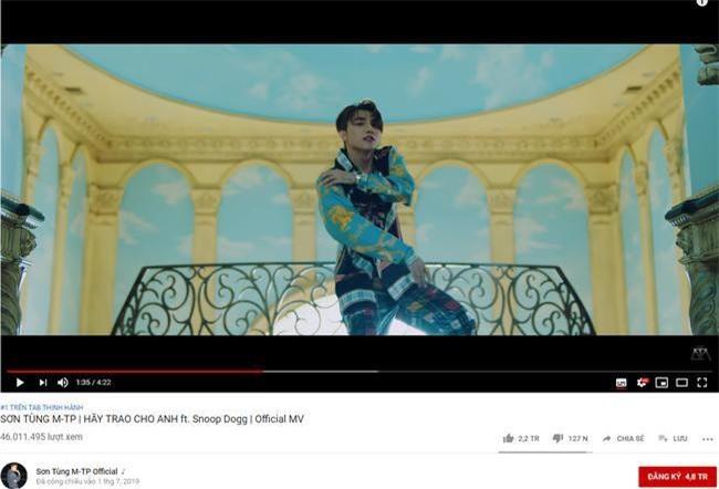 """MV """"Hãy trao cho anh"""" của Sơn Tùng M-TP hiện đứng số 1 trên bảng xếp hạng Video thịnh hành tại Việt Nam của YouTube"""