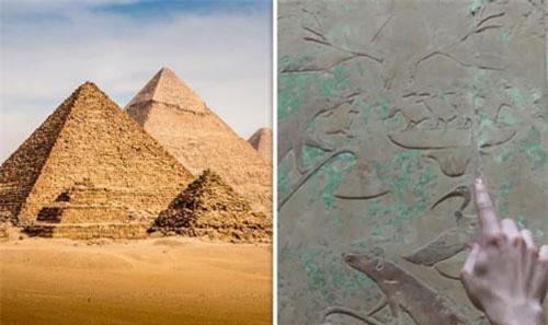 Lăng mộ kim tự tháp của pharaohUnas là công trình hoàng gia nhỏ nhất còn tồn tại nhưng cũng mang nét độc đáo nhất