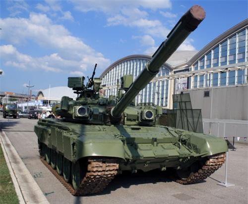 Xe tăng chiến đấu chủ lực M-84AB1 tại một cuộc triển lãm quân sự. Ảnh: Military Today.