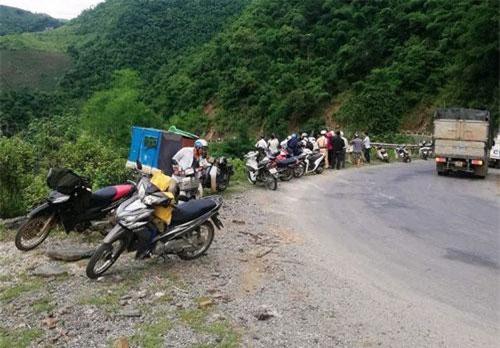 Cung đường xảy ra vụ tai nạn giao thông.