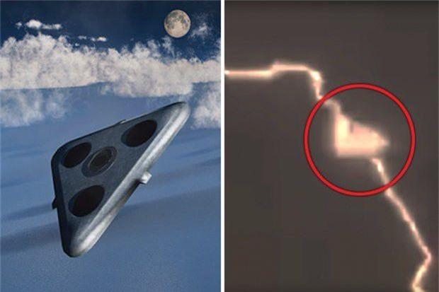 Sốc khi thấy UFO người ngoài hành tinh hút năng lượng từ tia chớp - 1