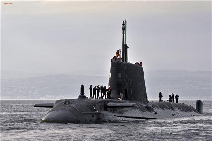 Tàu ngầm hạt nhân lớp Astute, của Anh. Ảnh: Wikipedia