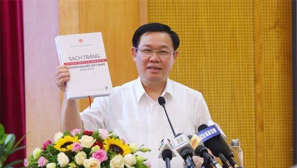 Phó Thủ tướng Vương Đình Huệ phát biểu chỉ đạo tại Lễ công bố Sách trắng doanh nghiệp Việt Nam năm 2019.