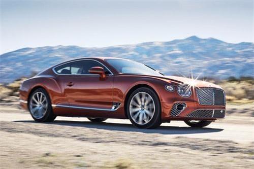8. Bentley Continental GT 2019 (vận tốc tối đa: 333 km/h).