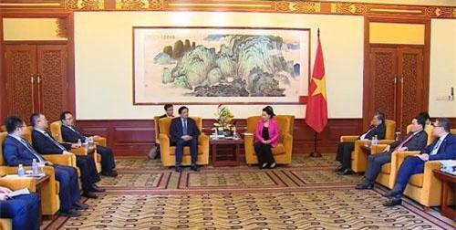Buổi tiếp của Chủ tịch Quốc hội Nguyễn Thị Kim Ngân.
