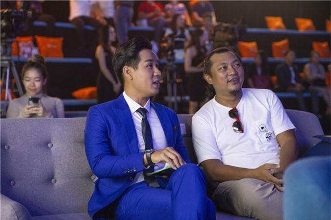 MC Nguyên Khang và đạo diễn Phan Gia Nhật Linh