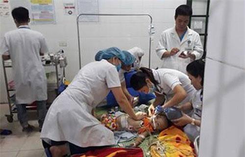 Cháu N. được các bác sĩ cấp cứu tại bệnh viện nhưng không qua khỏi.