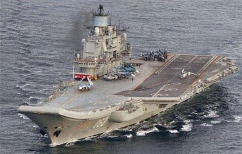 Tàu sân bay Đô đốc Kuznetsov của Nga (Ảnh: Reuters)