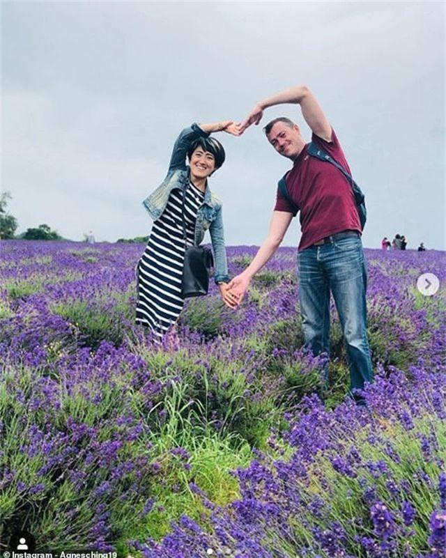 Nông trại trồng hoa oải hương ở thị trấn Banstead, hạt Surrey, Anh