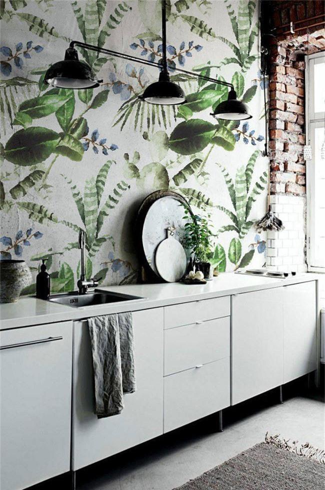 Thơ mộng và lãng mạn với thiết kế tường in hình nền thực vật - Ảnh 2.