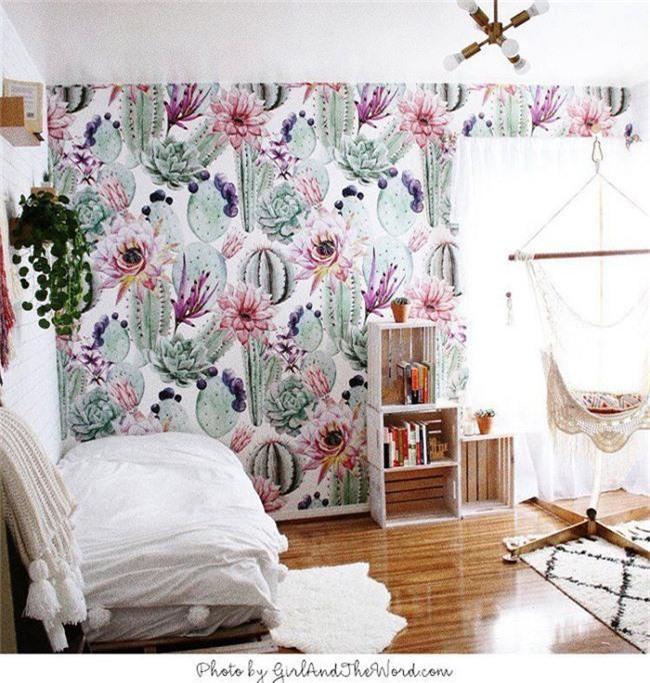 Thơ mộng và lãng mạn với thiết kế tường in hình nền thực vật - Ảnh 3.
