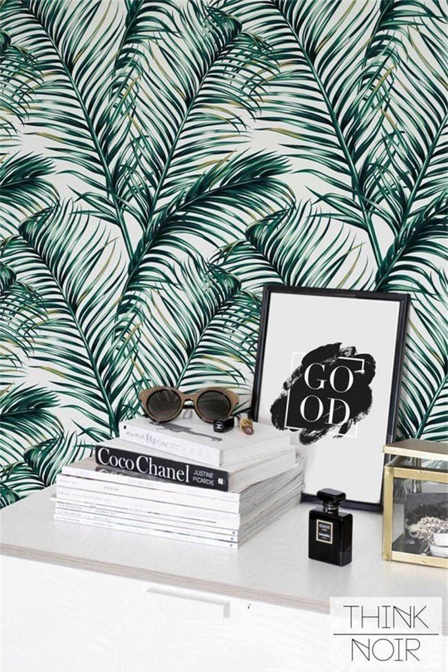 Thơ mộng và lãng mạn với thiết kế tường in hình nền thực vật - Ảnh 4.