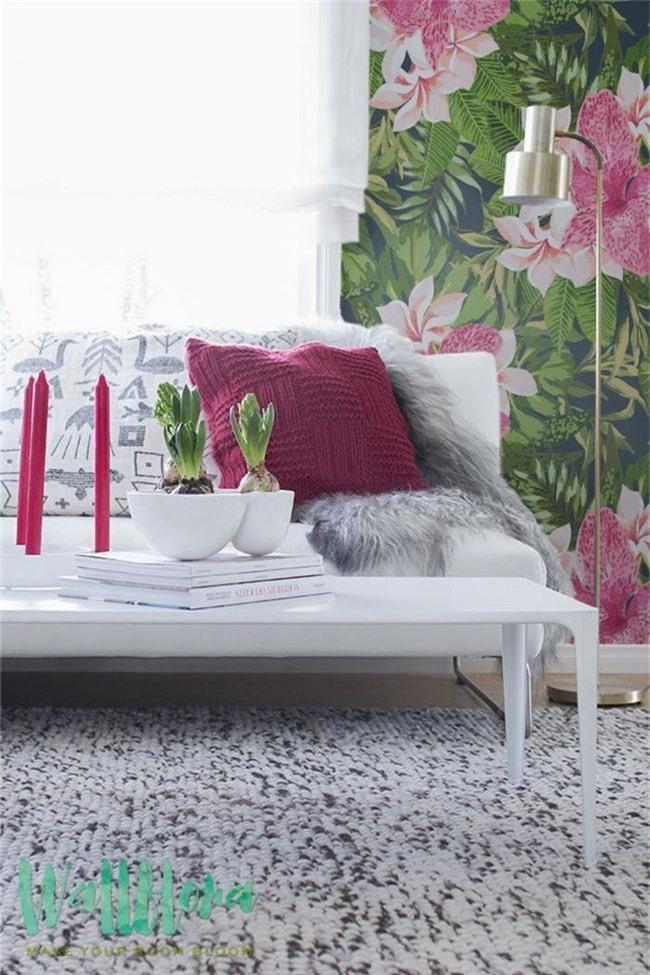 Thơ mộng và lãng mạn với thiết kế tường in hình nền thực vật - Ảnh 5.