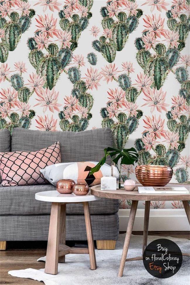 Thơ mộng và lãng mạn với thiết kế tường in hình nền thực vật - Ảnh 7.