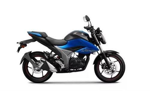 Gixxer 2019 trong tùy chọn màu Glass Sparkle Black/Metallic Triton Blue