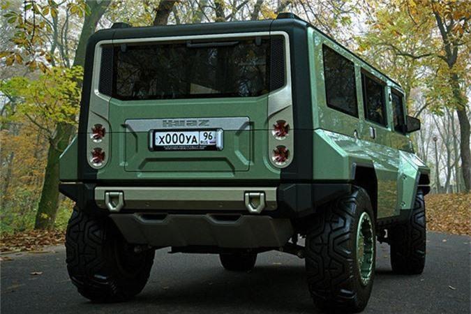 Xe H-UAZ off-road cua Nga dep va ham ho hon ca Hummer-Hinh-4
