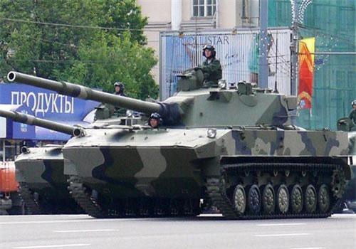 """Thật vậy, ngay khi hay tin chương trình """"Hỏa lực bọc thép cơ động"""" (MPF) của Mỹ sắp đi vào thử nghiệm, giới chuyên gia của cơ quan thông tấn Liên bang Nga tuyên bố rằng xe tăng hạng nhẹ Sprut-SDM1 125mm của nước này tốt hơn dòng xe Mỹ. Nguồn ảnh: Wikipedia"""