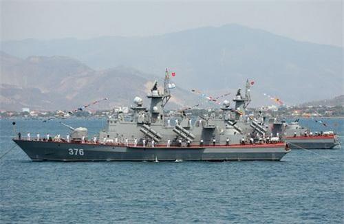 Tàu tên lửa tấn công nhanh Molniya Dự án 1241.8 của Hải quân Việt Nam. Ảnh: Báo Hải quân Việt Nam.