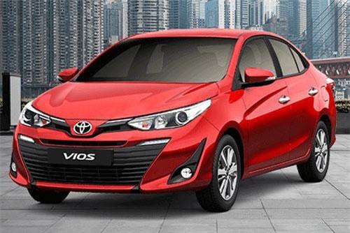 1. Toyota Vios (doanh số: 12.451 chiếc).