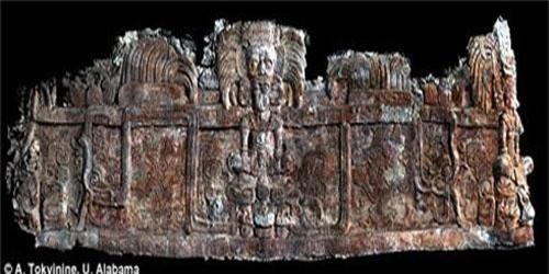 Hình khắc trên ngôi mộ cổ.