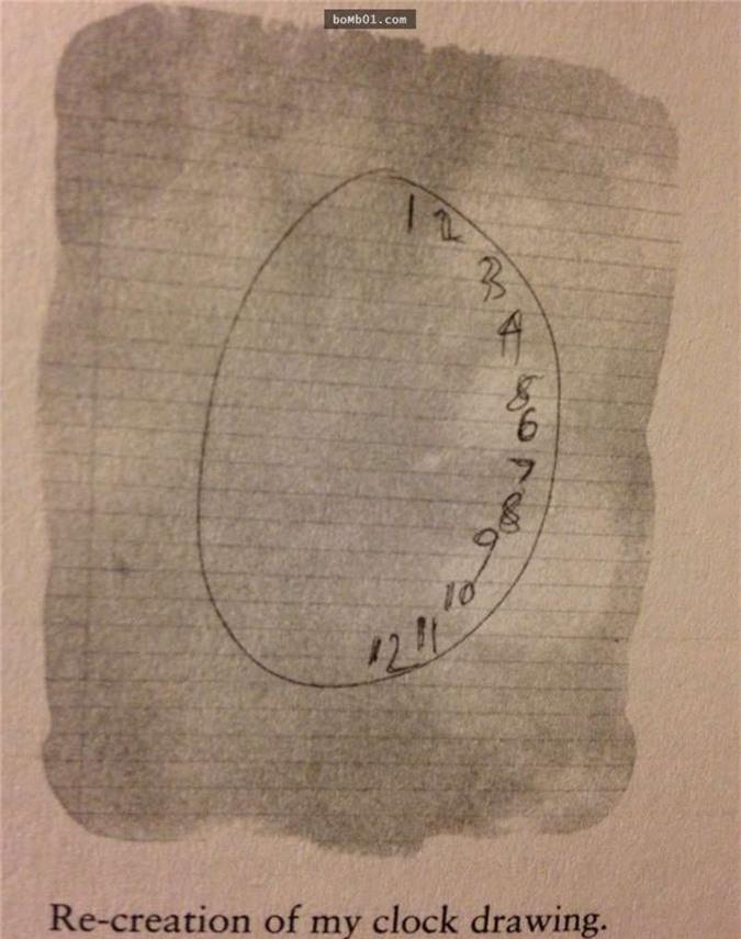 Susannah vẽ chiếc đồng hồ với những con số từ 1,2,3... cho đến 12 đều xuất hiện hết ở một nửa bên trái của tờ giấy.