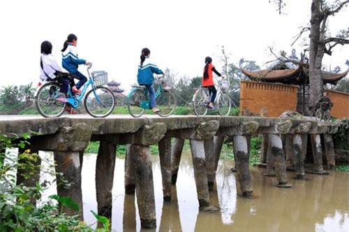 Cây cầu làng Nôm (Ảnh: ST)
