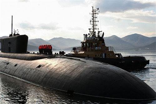 Một chiếc tàu ngầm thuộc đề án 955. Ảnh: Sputnik