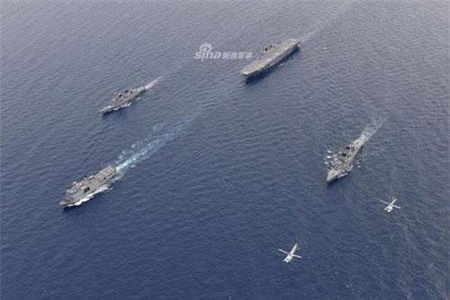 Những hình ảnh mới nhất về cuộc tập trận chung vừa được Nhật tổ chức trên vùng biển Ấn Độ cho thấy sự tham gia của tàu chiến lớn nhất Nhật Bản và tàu chiến lớn nhất trong biên chế của Hải quân Philippines hiện tại. Nguồn ảnh: Sina.