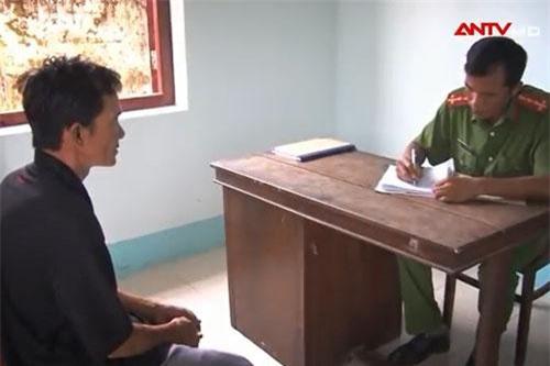 Nguyễn Thanh Vân tại cơ quan điều tra.