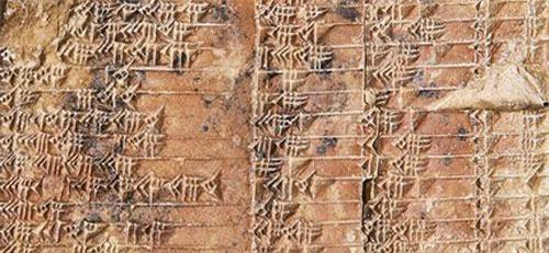 Bảng công thức trên tấm đất sét 3.700 tuổi
