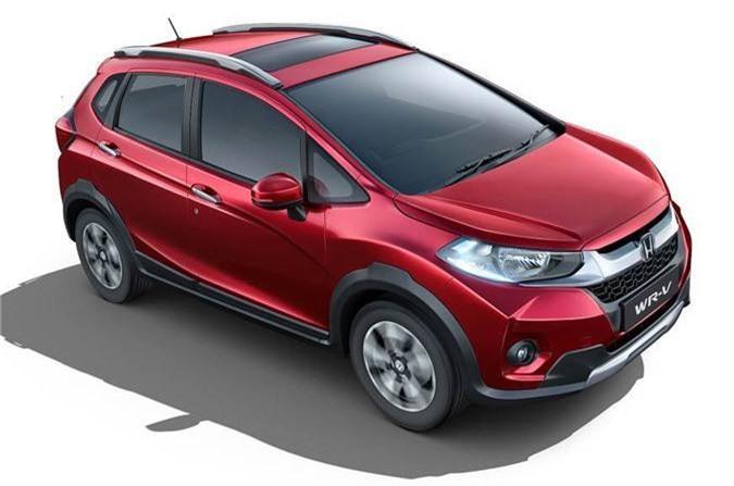 Honda WR-V phiên bản nâng cấp vừa trình làng tại thị trường Ấn Độ.
