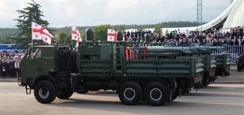 Tên lửa Python-5 thuộc hệ thống phòng không SPYDER-SR của Gruzia xuất hiện trong một cuộc diễu binh. Ảnh: Defence Blog.