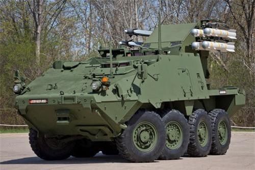 Xe thiết giáp đa năng phòng không - chống tăng Stryker MSL của Mỹ. Ảnh: Tập đoàn Boeing.