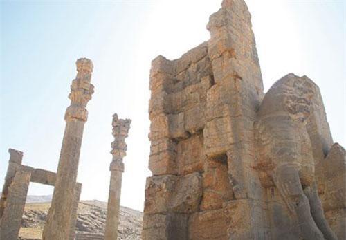 Một góc của phế tích Persepolis.