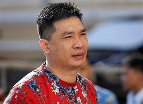 Văn Kính Dương đến tòa sáng nay. Ảnh: Thành Nguyễn.
